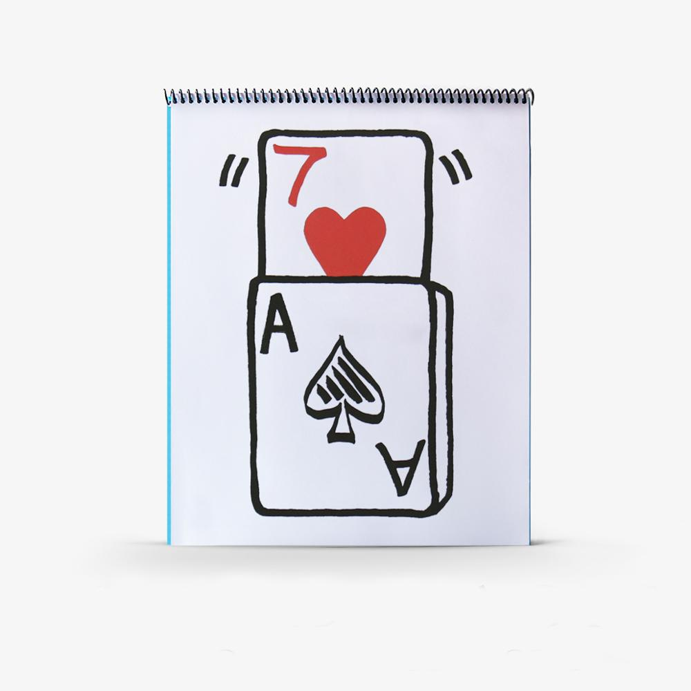 Professional Cardiographic Exclusive Rise Card Prediction (35.5*28cm) For Magician Magic Tricks Stage Illusion Props,Gimmick