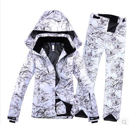 giacca snow mimetica bianca