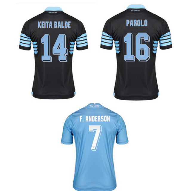2015 16 Thai Quality lazio home and away Soccer Jersey 15 16 KLOSE CANDREVA  RADU MAURI Lazio Football Shirt 229fcae70