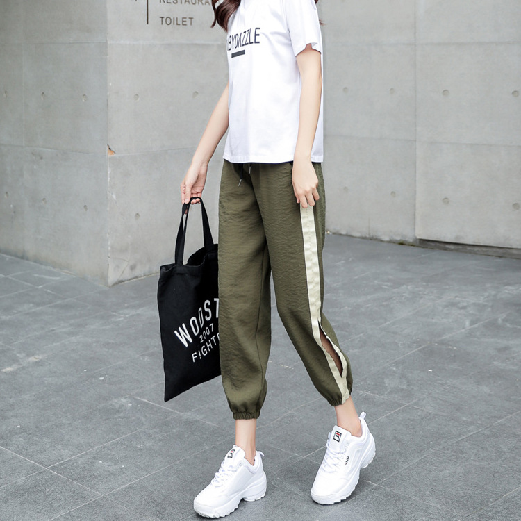 2018 women hip-hop sportwear Sweatpants summer new arrival harem pants harajuku casual Cropped pants fashion Sweat Pants Female