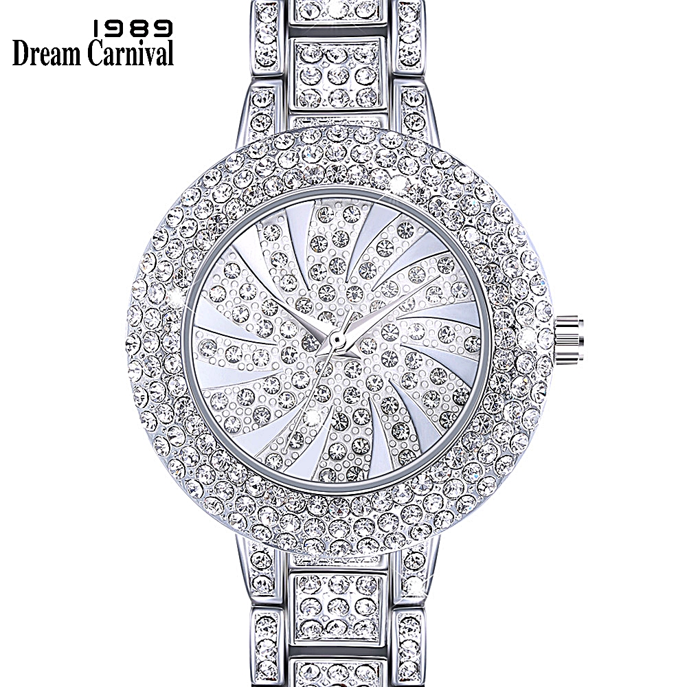DreamCarnival 1989 New Arrived Classic Crystal Watch for Women Luxury Stone Dial Rhodium Gold Colors Must Have Timepiece A8356BDreamCarnival 1989 New Arrived Classic Crystal Watch for Women Luxury Stone Dial Rhodium Gold Colors Must Have Timepiece A8356B
