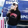 Ulzzang Harajuku Camisola Mulheres Vetements Thrasher Capuz Outono Inverno Com Capuz de Lã Estilo Coreano Plus Size Agasalho Jumper