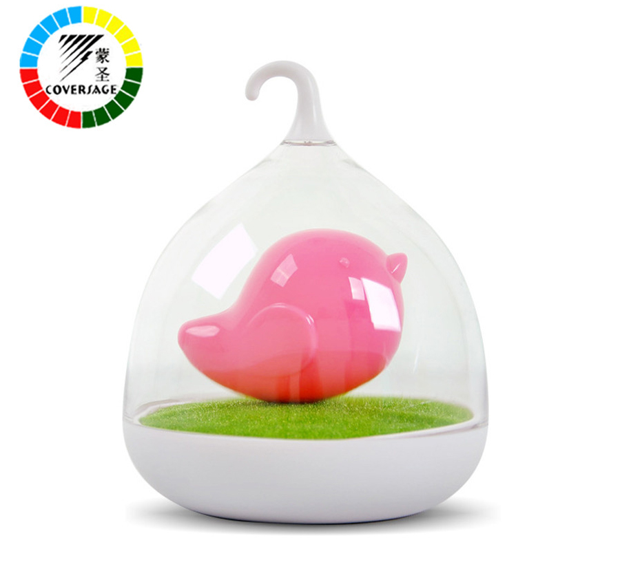 Coversage Sound Touch Motion Sensor Night Light Birdcage LED Rechargeable Battery Christmas Novelty Outdoor Bedroom Kids Toys