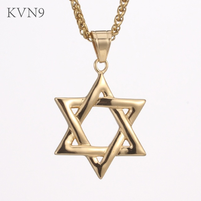 Fine Jewelry Mens Stainless Steel Antiqued Star Of David Pendant bCP7yK7TE