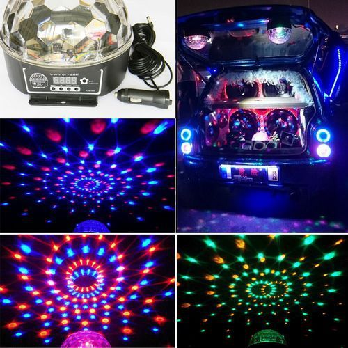 12V Car Interior Lighting Car Care Accessories Auto Parts Music Rhythm  Activated Auto Light LED Car