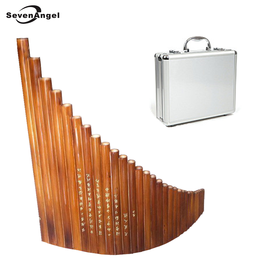 SevenAngel Treasures 31 pipes Panflute Professional Handmade By 30 Years Production Master Bamboo Flute Dizi  with Case chinese traditional professional performance full red sandalwood hulusi three tone detachable flute dizi key of c b with case