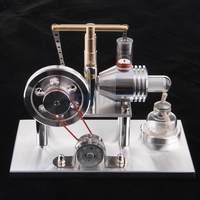Модель двигателя Стирлинга горячего воздуха, генератор с светодиодный паровой генератором