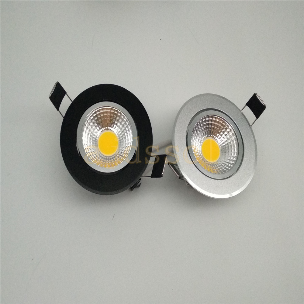 10pcs/lot Super Bright Dimmable Led downlight light COB Ceiling Spot Light 3w 5w 7w 12w ceiling recessed Lights Indoor Lighting