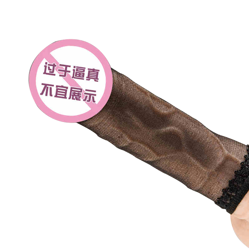 Penis Stockings Cover Handjob Sleeve Ring Full Penis Masturbators Impotence Reusable Stockings Dildo Bag Sex Toys For Men