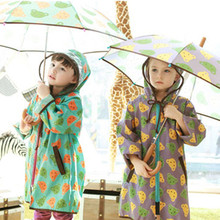 2015 Fashion Impermeables raincoat for children transparent kids EVA Rain Coat Poncho chubasqueros capa de chuva