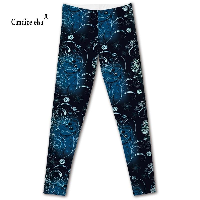 CANDICE ELSA women leggings workout legging fitness female pants elastic floral printed sexy trousers plus size wholesale