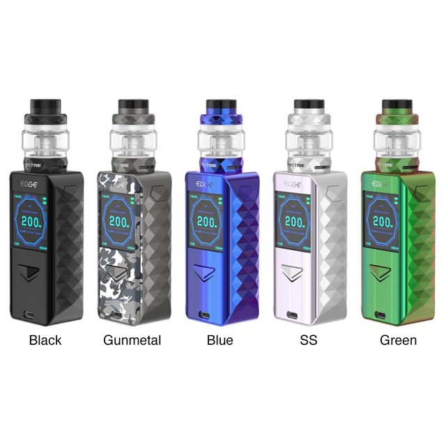 , Original Digiflavor Edge 200W TC Kit with 5.5ml Spectre Tank & Wireless Charging Technology 1.54-inch Display Ecig Vape Kit