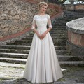 2016 New Arrival with Detachable Lace Jacket Wedding Dress Applique Satin Bridal Dresses Elegant Tall Women Vestido De Noiva