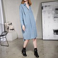 [XITAO] Korea fashion 2017 new spring Female long sleeve turn down collar loose striped long blouse casual women shirts ATT021