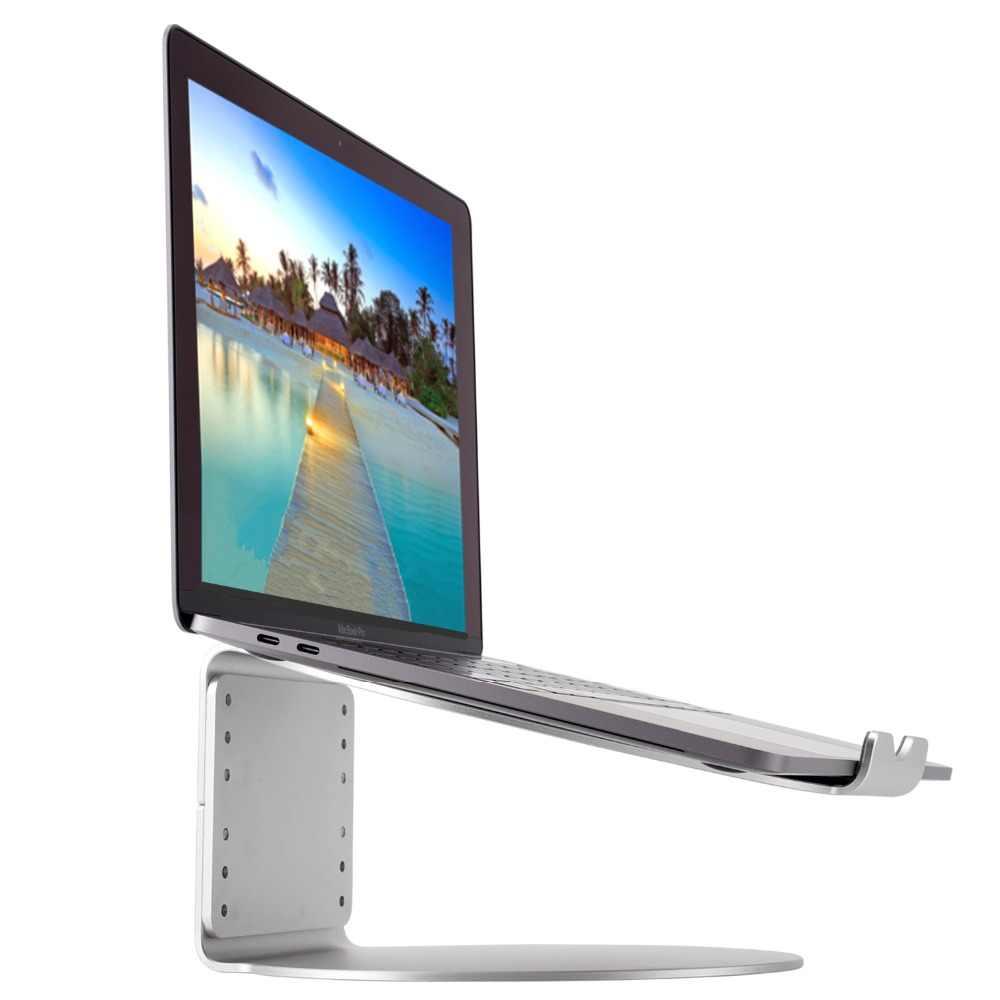 Soporte de escritorio de ordenador portátil elevador de 9 niveles de altura ajustable soporte de refrigeración de aluminio portátil para MacBook Air Pro 11-17''