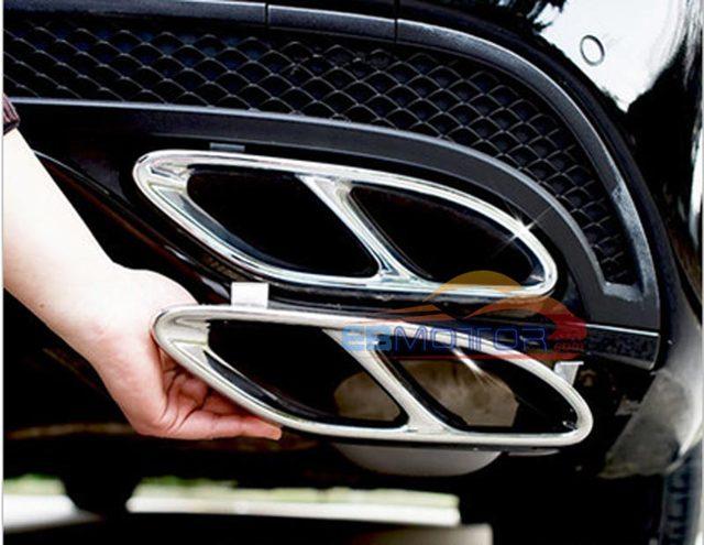 Rear Exhaust Ler Tips 1pair For Mercedes Benz W205 C Clc180 C200 C260 C300 C450