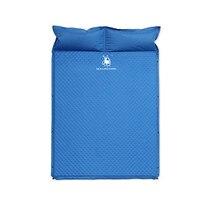 Открытый Автоматическая надувные подушки двухместная палатка коврик с подушкой Синий быстро наполняя воздух коврик толщиной от влаги ковр