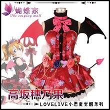 Love Live Kousaka Honoka Little Devil Awaken Dress Custom Made Uniforms Cosplay Costume Free Shipping