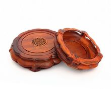 Rosewood carving crafts vase flowerpot tank stone household act the role ofing is tasted furnishing articles solid wood base rosewood carving furnishing articles household act the role ofing is tasted of buddha household solid wood crafts special base