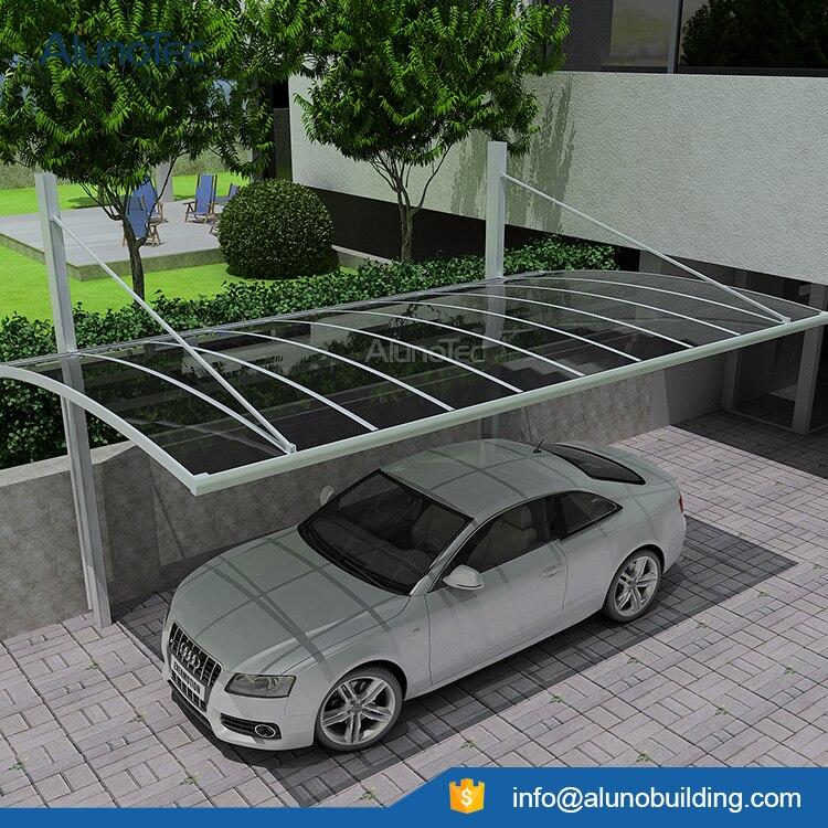 5.5m*3m*3m Customized Aluminum Single Carport with Polycarbonate Roof
