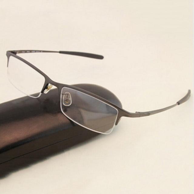 HOT Men Novo Homem Óculos de Armação de Titânio Puro Óculos Ópticos  Prescrição Lentes Miopia Marcas 331b27869d