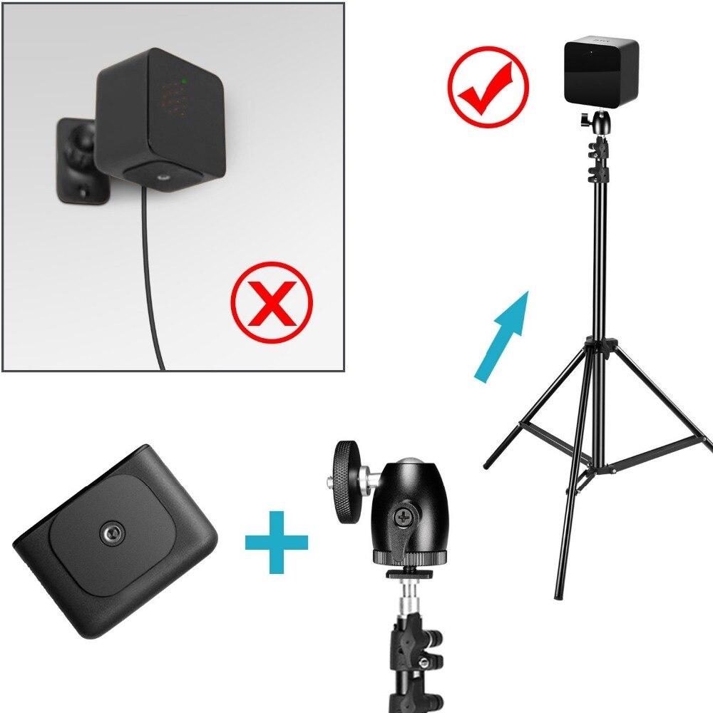 Neewer 2 Packs Verstelbare Licht Staat met 2 Stuks 1/4-inch Schroef Statief Mini Ball Head Hot Shoe Adapters voor HTC Vive VR