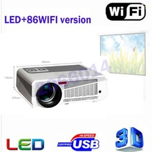 2017 Newest Full HD Projector 5500 lumens LED Android4.4 Wifi Smart Multimedia video 3D Proyector Full hd for home theater