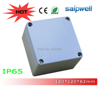 2014 IP65 Electronic Extruded Aluminum Case with 4pcs Screws 120*120*82 mm High Qulity