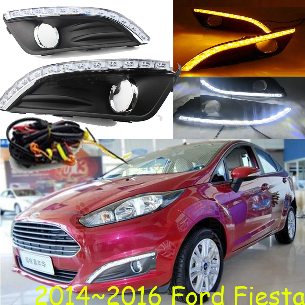 For Fiest daytime light;2009~2012/2013~2016,Free ship!LED,Fiest fog light,2ps/set;Fiest 2013 2016 innova daytime light free