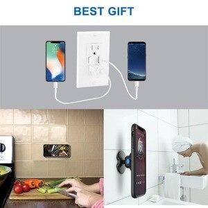 Image 4 - קיר הר מחזיק טלפון, טלפון טעינה מחזיק קולב סטנד אוניברסלי עבור iPhone אנדרואיד כל טלפון הד נקודה וכו .