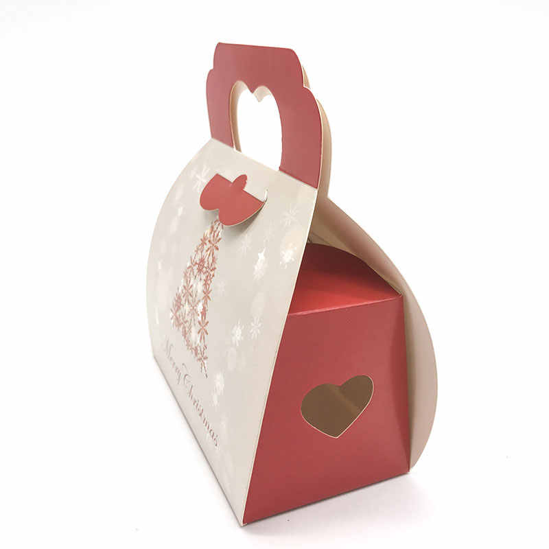 Christmas Gift Packages.10pcs Christmas Tree Portable Cassette Christmas Supplies Cake Boxes Candy Packages Biscuit Box Christmas Handbag Gift Boxes