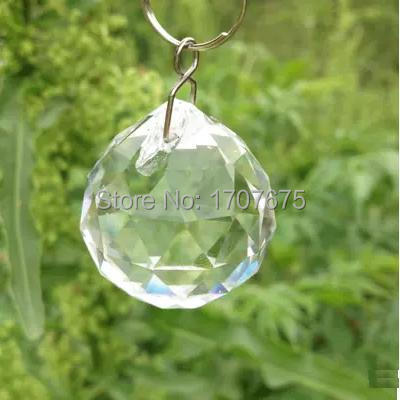 8pieces/lot 30mm crystal faceted ball Clear AAA Chandelier Crystals Ball  Lighting Pendant 30mm Crystal