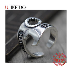 ULIKEIDO 925 Sterling Silver Jewelry Mens Ring For Women