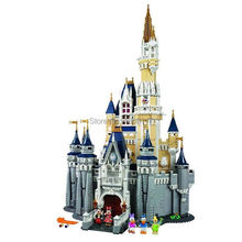 Presale 2016 New 16008 LEPIN 4080Pcs Cinderella Princess Castle Disny Model Building Kits Minifigure Block Bricks Toys
