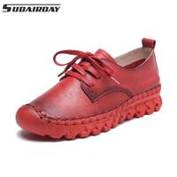 Women S Flat Shoes Full Grain Leather Woman Loafers Handmade Comfortable Shoes Genuine Leather Soft Outsole