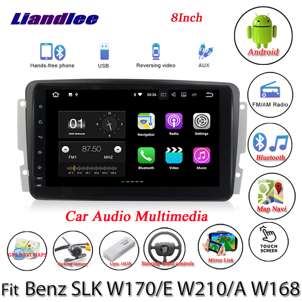 Liandlee Android System For Mercedes Benz SLK W170 / E W210 / A W168 - Radio GPS Nav MAP Navigation HD Screen Multimedia NO DVD