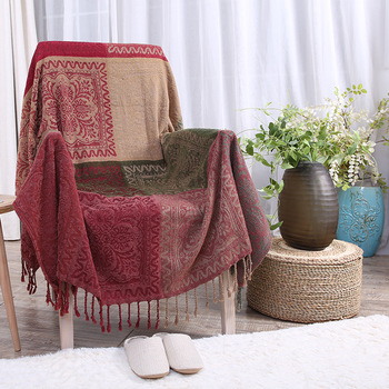 New Bohemian Cotton blanket Sofa TV Thread Blanket Multifunction Home Decor Tapestry Piano Cover Bed Cover Carpet 210x250cm