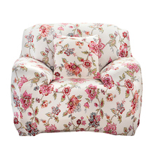 Machine Washable Sofa Cover Printed Flower Cloth Art Spandex Stretch Slipcover Sofa Cover for Home/Office/Hotel Use