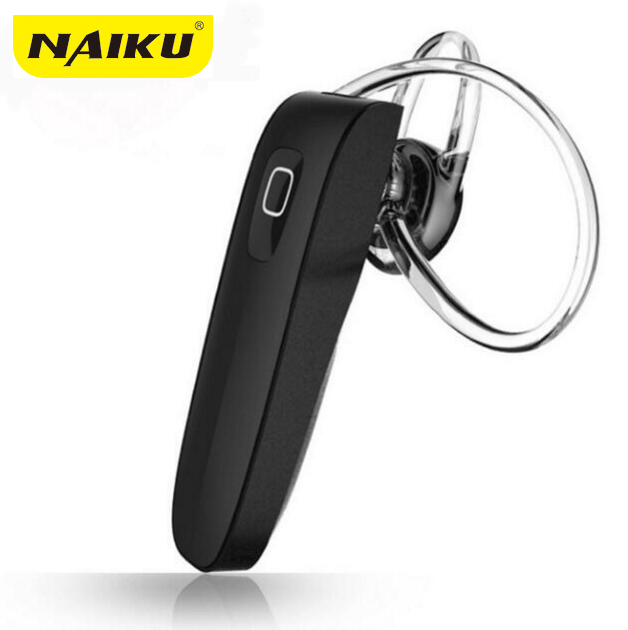 Top Quality! New NAIKU B1 Bluetooth 4.0 Headset Wireless Headphones with Mic for iPhone iPad Samsung Xiaomi Huawei new dacom carkit mini bluetooth headset wireless earphone mic with usb car charger for iphone airpods android huawei smartphone