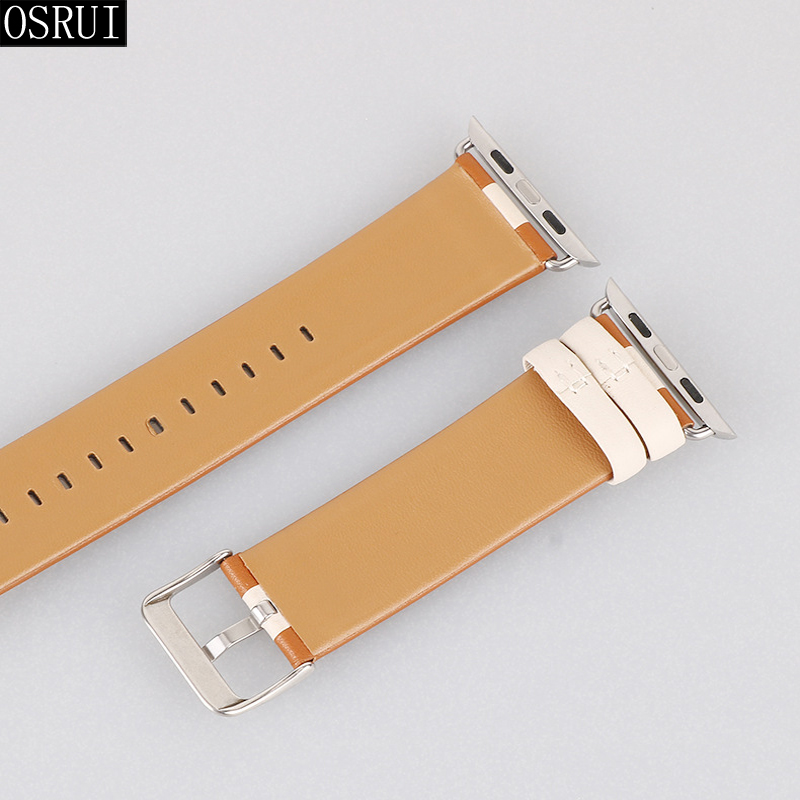 Strap for Apple Watch 4 Band 44mm 40mm correa iwatch band 42mm 38mm 3 2 1 leather bracelet for pulseira apple watch accessories in Watchbands from Watches