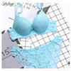 Shitagi Brand 2018 Luxury Brassiere Lace Underwire Bra Brief Sets Women Sexy Lingerie Padded Push Up