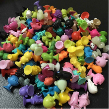 50 PCS/lot good Cupule kids Cartoon Animal Action Figures toys Sucker kids Mini Suction Cup Collector Capsule model