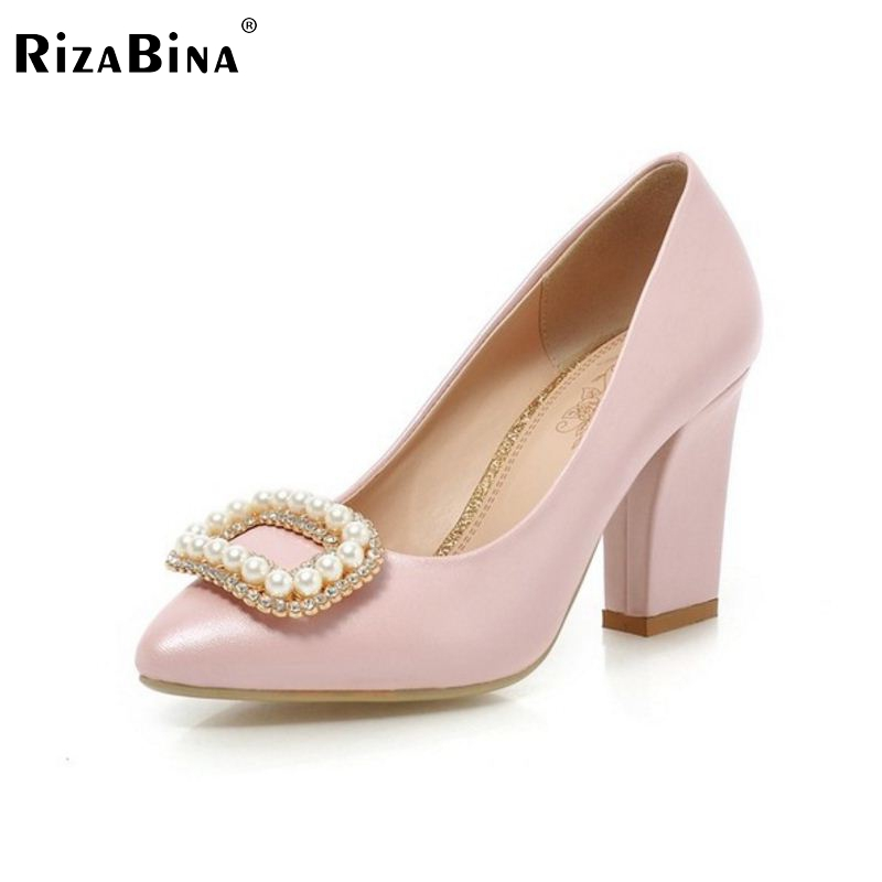 women high heel shoes pointed toe pearl  footwear sexy brand party spring fashion heeled pumps heels shoes size 33-43 P17057 2017 spring sexy women pumps genuine leather butterfly knot woman shoes pointed toe high heels footwear party pumps size 33 43