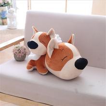цена на Creative Lovely Angel Dog Short Plush Toy Stuffed Animal Plush Doll Toys Children Birthday Gift