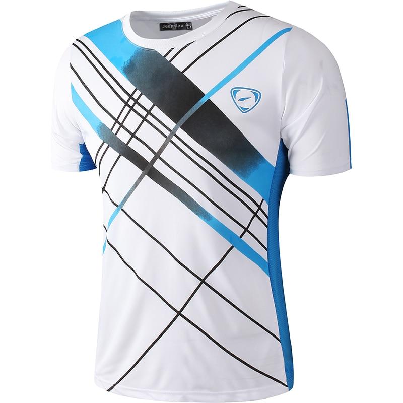 Нові прибуття 2019 чоловіки Дизайнерські футболки Повсякденні Швидкі сухі Slim Fit Сорочки Топи і Трійці Розмір S M L XL LSL133 (ВИБЕРІТЬ РАЗОМ США)
