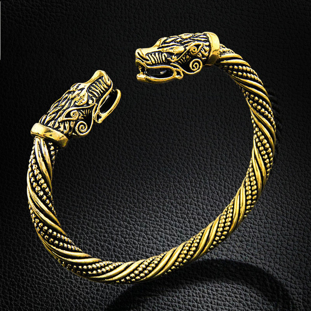 LAKONE Teen Wolf Head Bracelet Indian Jewelry Fashion Accessories Viking Bracelet Men Wristband Cuff Bracelets For Women Bangles 1