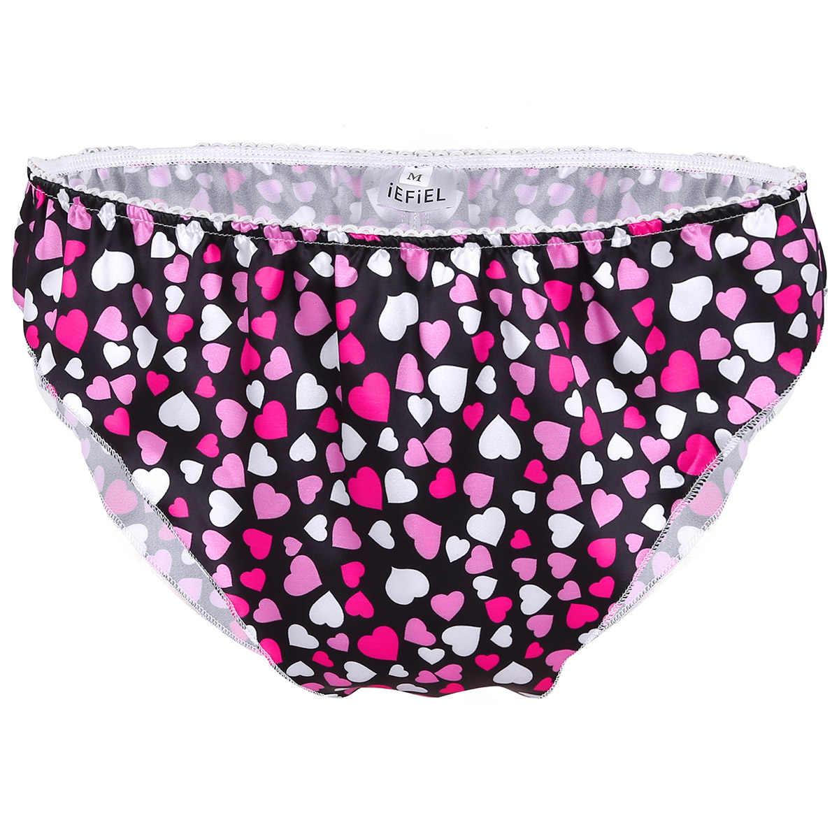 af9108e4d612 ... Mens Love Heart Soft Satin Briefs High Quality Sexy Bikini Underwear  Penis Pouch Underwear Men Lingerie ...