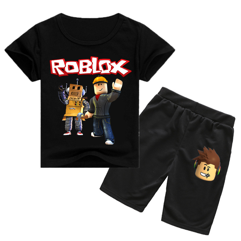 2020 2 12y Roblox Clothing Sets Short Pants Tops Suit Kids T Shirts Toddler Boy Summer Clothes Girls Outfits Tshirt Shorts From Azxt51888 7 04 Dhgate Com