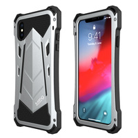 Metal mobile phone shell for iPhone 6 7 8 6s Plus luxury armor three anti drop waterproof phone case for iPhone X XS phone case
