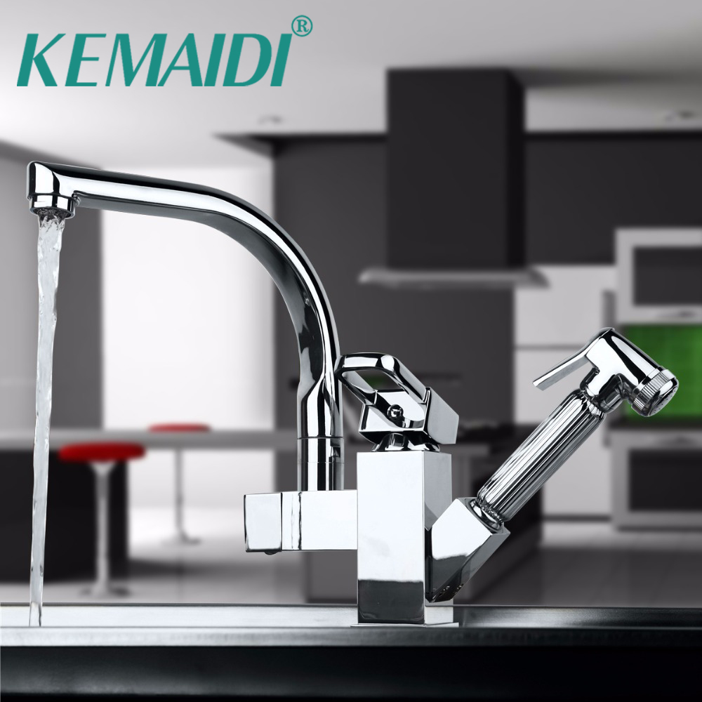 KEMAIDI Good Quality Polish Chrome Kitchen Faucet Kitchen Sink Mixer ...